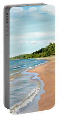 Peaceful Beach At Pier Cove Portable Battery Charger