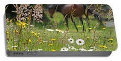 Peaceful Pasture Portable Battery Charger by Michelle Twohig