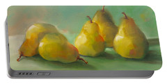 Peaceful Pears Portable Battery Charger by Michelle Abrams