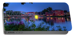 Portable Battery Charger featuring the photograph Peaceful River by Dave Files
