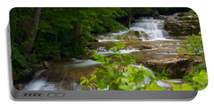 Peaceful Stockbridge Falls  Portable Battery Charger by Dave Files