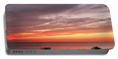 Peaceful Sunset Portable Battery Charger by Mariarosa Rockefeller