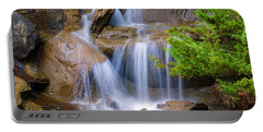 Portable Battery Charger featuring the photograph Peaceful Waterfall by Jordan Blackstone