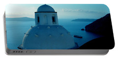 Peacefull Santorini Greek Island  Portable Battery Charger