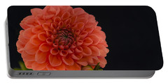 Peach Dahlia Portable Battery Charger