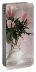 Portable Battery Charger featuring the photograph Peach Godetia Bouquet by Sandra Foster