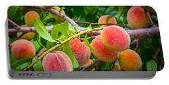 Peaches Portable Battery Charger by Inge Johnsson