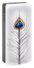 Peacock Abstract Portable Battery Charger