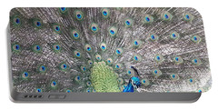 Portable Battery Charger featuring the photograph Peacock Bow by Caryl J Bohn