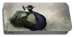 Portable Battery Charger featuring the photograph Peacock by Bradley R Youngberg