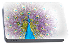Portable Battery Charger featuring the photograph Peacock by Holly Kempe