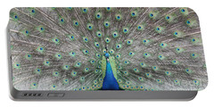 Portable Battery Charger featuring the photograph Peacock by John Telfer