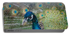 Peacock Portrait Portable Battery Charger