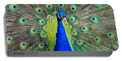 Peacock Portable Battery Charger by Roger Becker