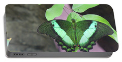 Portable Battery Charger featuring the photograph Peacock Swallowtail by Lingfai Leung