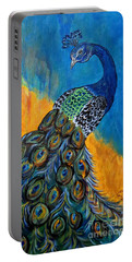 Peacock Waltz #3 Portable Battery Charger