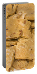 Peanut Brittle Closeup Portable Battery Charger