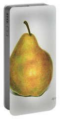 Pear Practice Portable Battery Charger by Marna Edwards Flavell