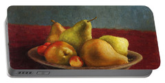 Pears And Cherries Portable Battery Charger