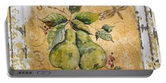 Pears And Dragonfly On Vintage Tin Portable Battery Charger