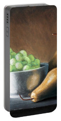 Pears And Grapes Portable Battery Charger