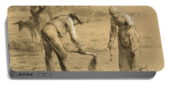 Peasants Planting Potatoes  Portable Battery Charger