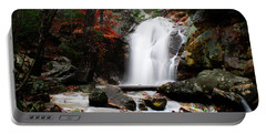 Peavine Falls In Autumn Portable Battery Charger by Shelby  Young