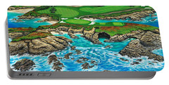 Pebble Beach 15th Hole-north Portable Battery Charger by Jane Girardot