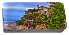 Pebble Beach Ca Portable Battery Charger by Richard J Cassato