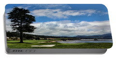 Pebble Beach - The 18th Hole Portable Battery Charger by Judy Vincent