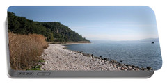 Portable Battery Charger featuring the photograph Pebbled Beach by Tracey Harrington-Simpson