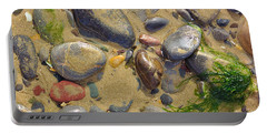 Pebbles On The Beach Portable Battery Charger