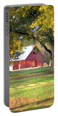 Portable Battery Charger featuring the photograph Pecan Orchard Barn by Gordon Elwell