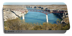 Portable Battery Charger featuring the photograph Pecos Bridge by Erika Weber