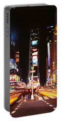 Pedestrians Waiting For Crossing Road Portable Battery Charger by Panoramic Images