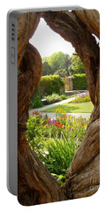 Peek At The Garden Portable Battery Charger by Vicki Spindler