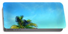 Peekaboo Palm - Tropical Art By Sharon Cummings Portable Battery Charger