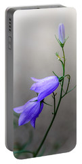 Blue Bells Peeking Through The Mist Portable Battery Charger