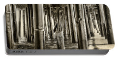 Peeking Under The Pier By Diana Sainz Portable Battery Charger