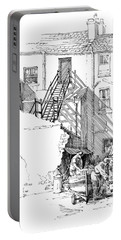 Portable Battery Charger featuring the drawing Peel Back Street by Paul Davenport