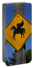 Pegasus Road Sign Portable Battery Charger