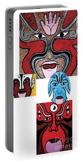 Portable Battery Charger featuring the painting Peking Opera No.1 by Fei A