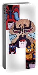 Portable Battery Charger featuring the painting Pekingopera No.2 by Fei A