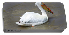Portable Battery Charger featuring the photograph Pelecanus Eerythrorhynchos by Alyce Taylor