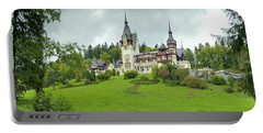 Peles Castle In The Carpathian Portable Battery Charger by Panoramic Images