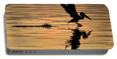 Pelican At Sunrise Portable Battery Charger