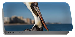 Portable Battery Charger featuring the photograph Pelican by Barbara McMahon