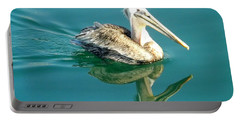 Portable Battery Charger featuring the photograph Pelican In San Francisco Bay by Clare Bevan