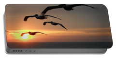 Portable Battery Charger featuring the photograph Pelican Sun Up by Laurie L