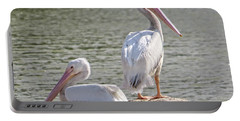 Pelicans By The Pair Portable Battery Charger